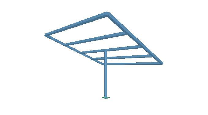 Estructura fotovoltaica metal 3d cte y acci n del viento - Estructura de metal ...
