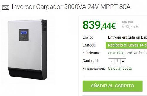 Inversor-cargador Quadro (tipo Voltronic) 5000VA 24V. 2 meses de uso. 500€-inversor.jpg