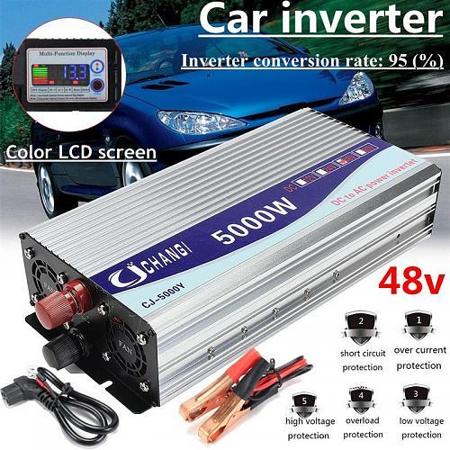 Inversor 48V 220V 5000W 10000W pico de onda sinusoidal modificada convertidor inversor de transformador de voltaje de potencia + pantalla LCD-htb1tnucdnjybenjy1zeq6yhzvxax.jpg