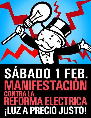 'Luz a precio justo' 1 de febrero MOVILIZACIONES en toda España-mani_generico.jpg