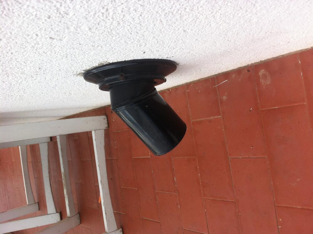 Instalaci n y salida de humo de estufa ecoforest vigo antracit - Instalacion tubos estufa de lena ...