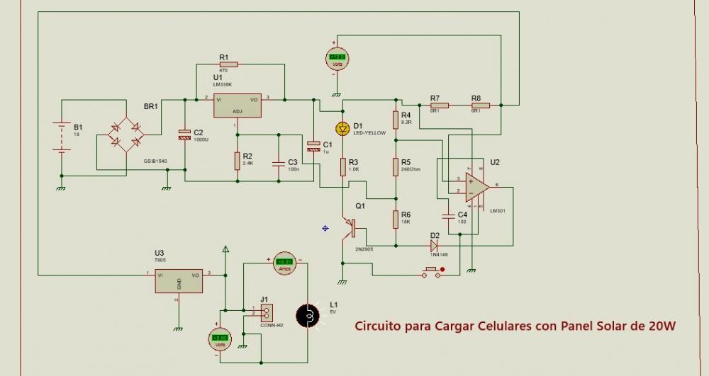 Circuito Cargador De Baterias Solar