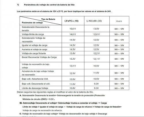 12S batería LTO 2,4 v Litio titanio óxido YINLOG para Autocaravana con VIctron-parametros-mppt.jpg
