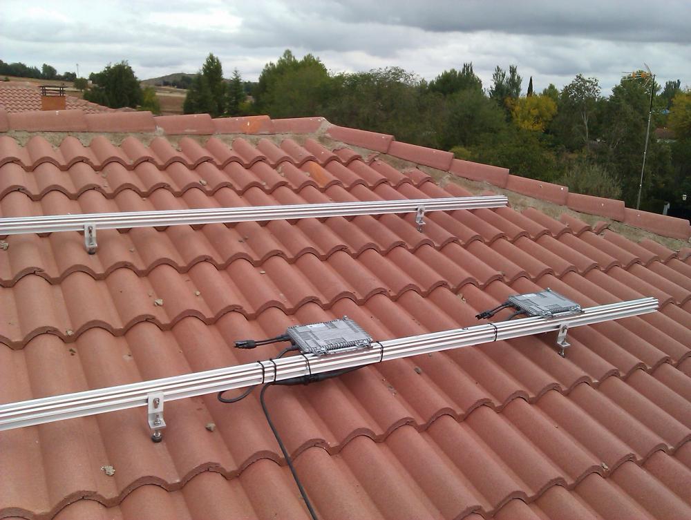 Consulta estructura para 4 placas en tejado for Tejados solares