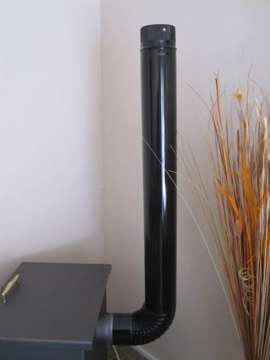 Instalaci n tubos estufa t o curva en salida for Estufas de lena tubos