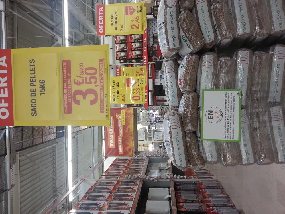 Pellet en leroy merlin a 3 5 - Precio kilo pellets ...
