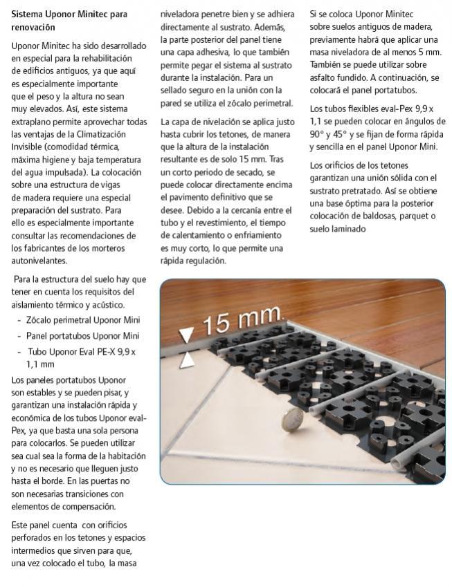 Aerotermia conducto de aire o radiadores de baja potencia - Uponor suelo radiante ...