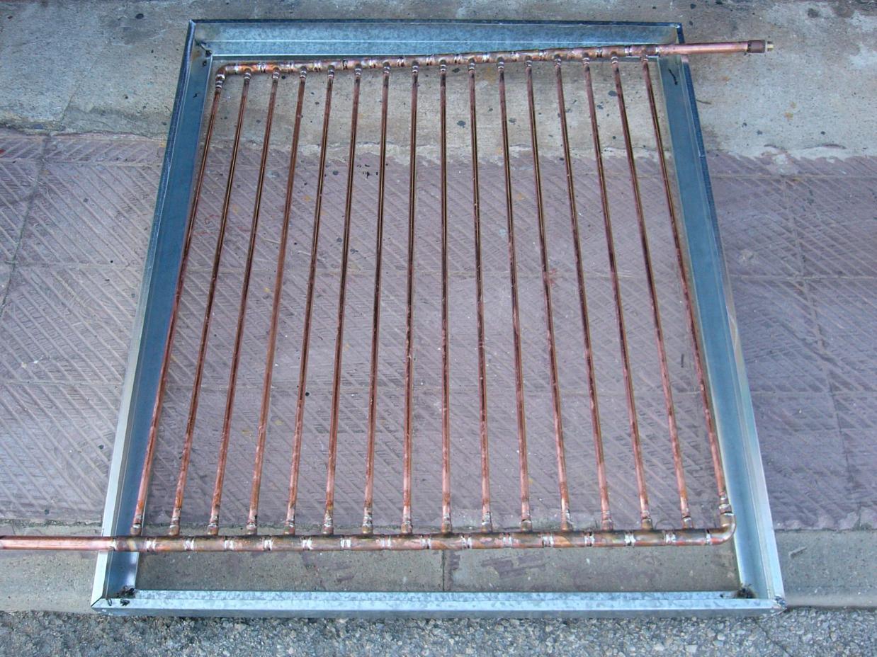 Como construir un panel de energ a solar para calentar for Placas solares para calentar agua
