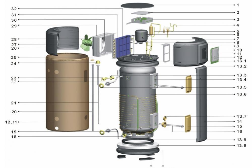 Suelo radiante bomba de calor aire agua autoconstruida - Bomba de frio para suelo radiante ...