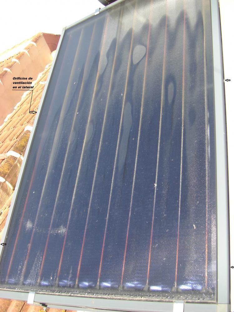 Condensacion o agua dentro de placa solar - Placa solar termica ...