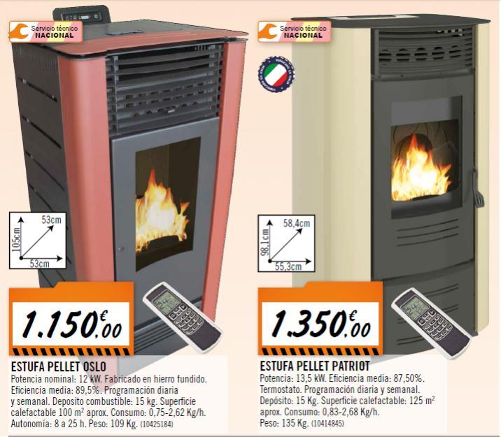 Precio pellets bricomart transportes de paneles de madera - Estufa de pellets precios ...